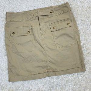 Michael Michael Kors Size 12 Beige Straight Skirt